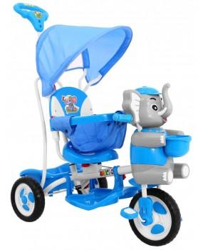 Detská trojkolka Sloník modrá